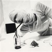 aktion mit seinem eigenen körper (portfolio of 15 w/text and 1 contact sheet) by rudolf schwarzkogler