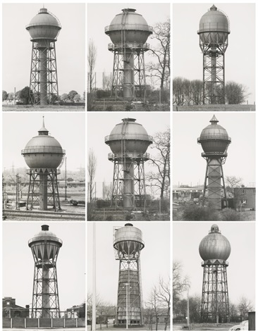 watertowers- k (in 9 parts) by bernd and hilla becher
