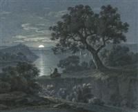 landschaft im mondschein by alois von saar