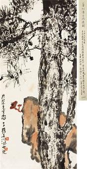 寿兰图 立轴 纸本 by yang shanshen
