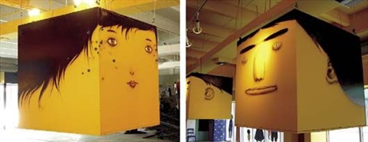 untitled head box 2 works by osgemeos