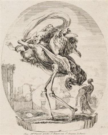 der tod trägt eine frau nach links from les cinq morts by stefano della bella