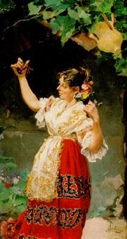 mujer con castañuelas by manuel arroyo y lorenzo