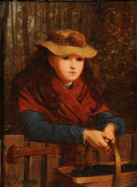 the blackberry girl: by james hayllar