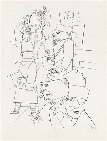 dämmerung from im schatten by george grosz