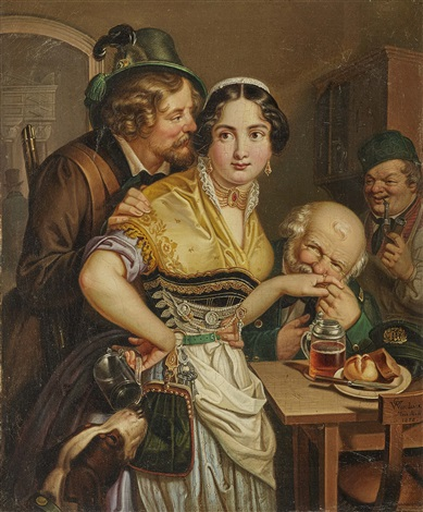 The Desired Waitress between Good and Expensive by Georg