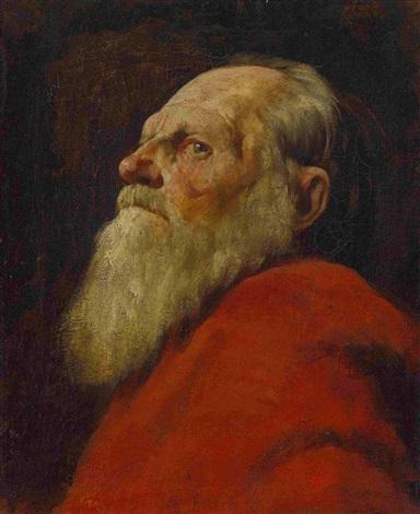 bildnis eines alten mannes by wilhelm maria hubertus leibl