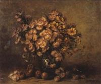 stilleven met chrysanten by berthe vermorcken