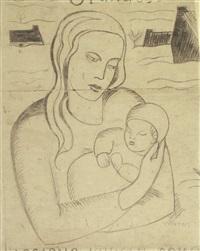 mutter und kind (study) by otto van rees