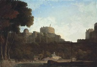 a view of windsor castle from the thames by thomas christopher hofland