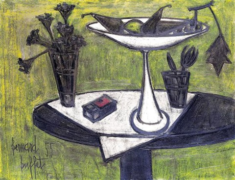 nature morte au compotier by bernard buffet