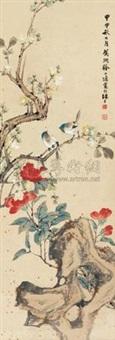 山茶双雀 by xu xiaoyin