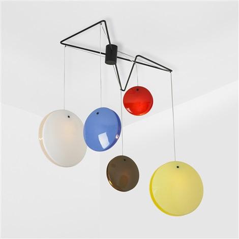chandelier model 2072 by gino sarfatti