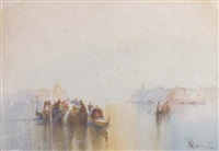 crowded gondolas on the lagoon, venice by william knox