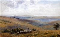 on the sussex downs by sir ernest albert waterlow