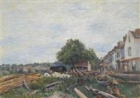 chantier à saint-mammès by alfred sisley