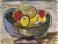 fruit in a bowl by max weber