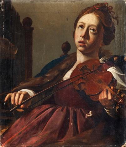 fiolspelerskan by christian van couwenbergh