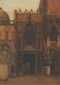 la porta della carta nella palazzo ducale, venezia by john wharlton bunney