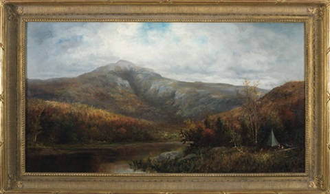 autumn view in the white mountains with hunters by william h hillard