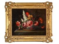bouquet de fleurs sur un entablement (pair) by antoine monnoyer
