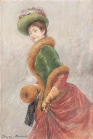portrait of a lady marie von doenhoff by franz seraph von lenbach