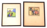 prints (2 works) by herbert gurschner