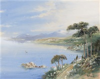 view on the italian coast (+ another; pair) by y. gianni