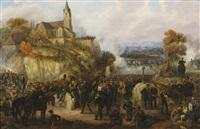 the battle of la suffel, 28 june 1815 by johanes baptiste pflug