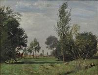 landschaft mit zwei rastenden by paul wilhelm tübbecke