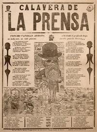 calavera de la prensa by josé guadalupe posada