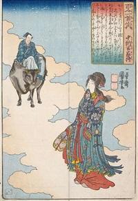 konvolut von neun farbholzschnitten aus diversen serien (oban tate-e) (9 works) by utagawa kuniyoshi