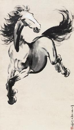 天马图 horse by xu beihong