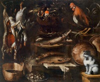 großes küchenstillleben by bartolomeo arbotori