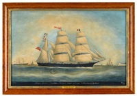 barque theresa off cape le heve bound to havre by john t. dodge