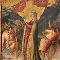 martirio di santa caterina d'alessandria by angelo di cola da camerino