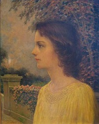 portrait of a woman in profile by harry finney
