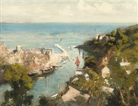 looe, cornwall by eric henri kennington