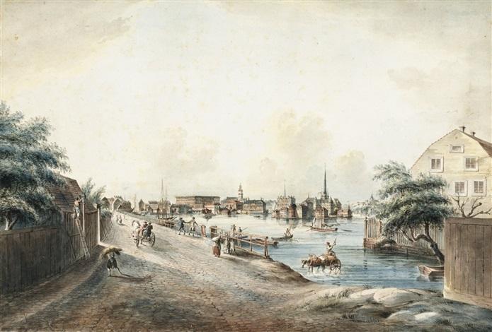 utsigt af stockholm tagen från kungsholmen (from svenska vyer) by johan fredrik martin