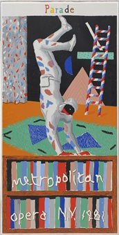 parade, metropolitan opera, new york by david hockney