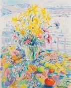 daffodils & somes island by shona mcfarlane