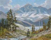high summer, above the spray lakes, near canmore, alberta by duncan mackinnon crockford