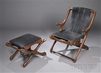 chair and ottoman (set of 2) by don shoemaker