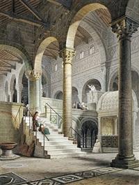 innenansicht der kirche san miniato sul monte in florenz by maximilian albert hauschild