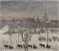 winter day in vyborg by hugo simberg