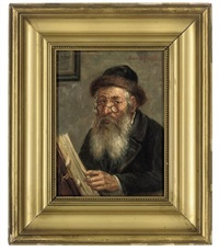 a rabbi reading scriptures by david rivitto