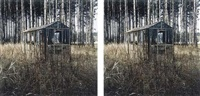 mirrored house (diptych) by rob fischer