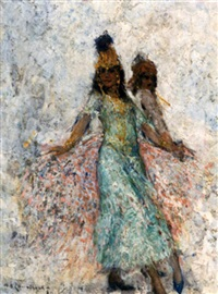 deux danseuses ouled naïl by william lambrecht