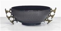 bowl, after a design by napoleone martinuzzi by ferro murano