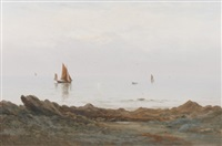 view of the sea by georgina m. de l' aubiniere